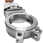 Knife gate valve MV close-up