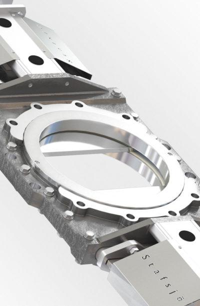 D2G knife gate valve close-up