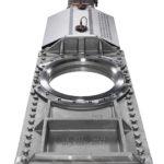 HP knife gate valve close-up