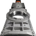 HX knife gate valve close-up