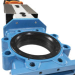 SLV knife gate valve close-up