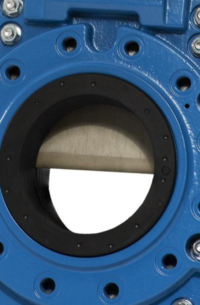 Knife gate valves SLH and SLX close up