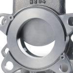 TV knife gate valve close-up
