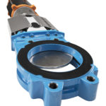 Knife gate valve WB11 close-up