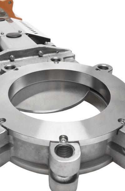 Knife gate valve XV close-up